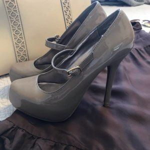Mossimo Patent High Heel Mary Jane Taupe